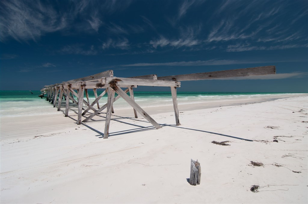 Eucla jetty.